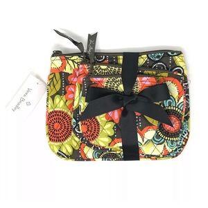 Vera Bradley Flower Shower Cosmetic Trio Bags
